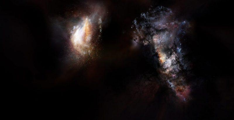 Image: Artist's concept via NRAO/ AUI/ NSF; D. Berry. & Composite