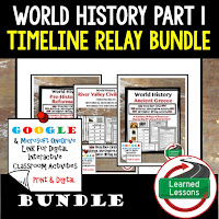 Ancient World History Timelines, Digital Interactive Notebook,  Early Man, River Valley Civilizations, Ancient Greece, Ancient Rome, Ancient China, Asian Empires, African Kingdoms, Aztec, Inca, Maya, Middle Ages, Renaissance, Reformation, Explorers