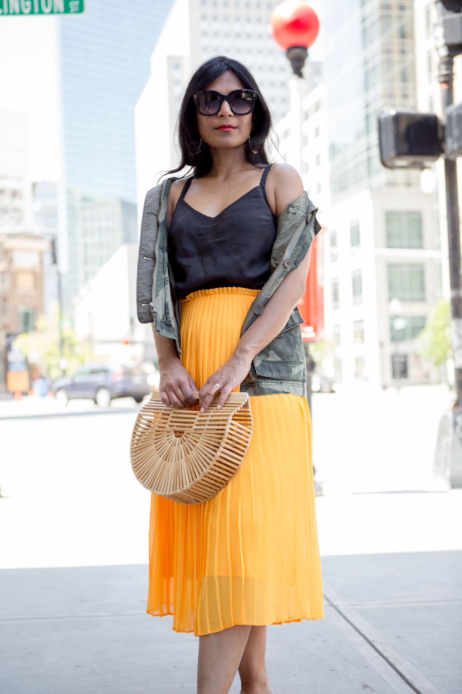 ann taylor, taxi cab yellow, marigold, pleats, midiskirt, urban chic, edgy, trendy, feminine style, style tips, style hunter, stylist, petite fashion, abercrombie, affordable style, style remix, petite blogger, boston blogger, boston back bay, cult gaia