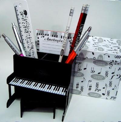 Porta lápis para o dia do músico