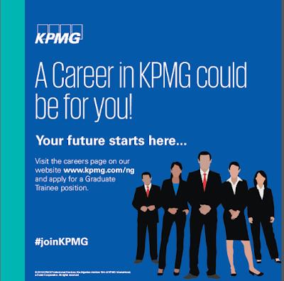 2017 Graduate Trainee Recruitment at KPMG Nigeria.