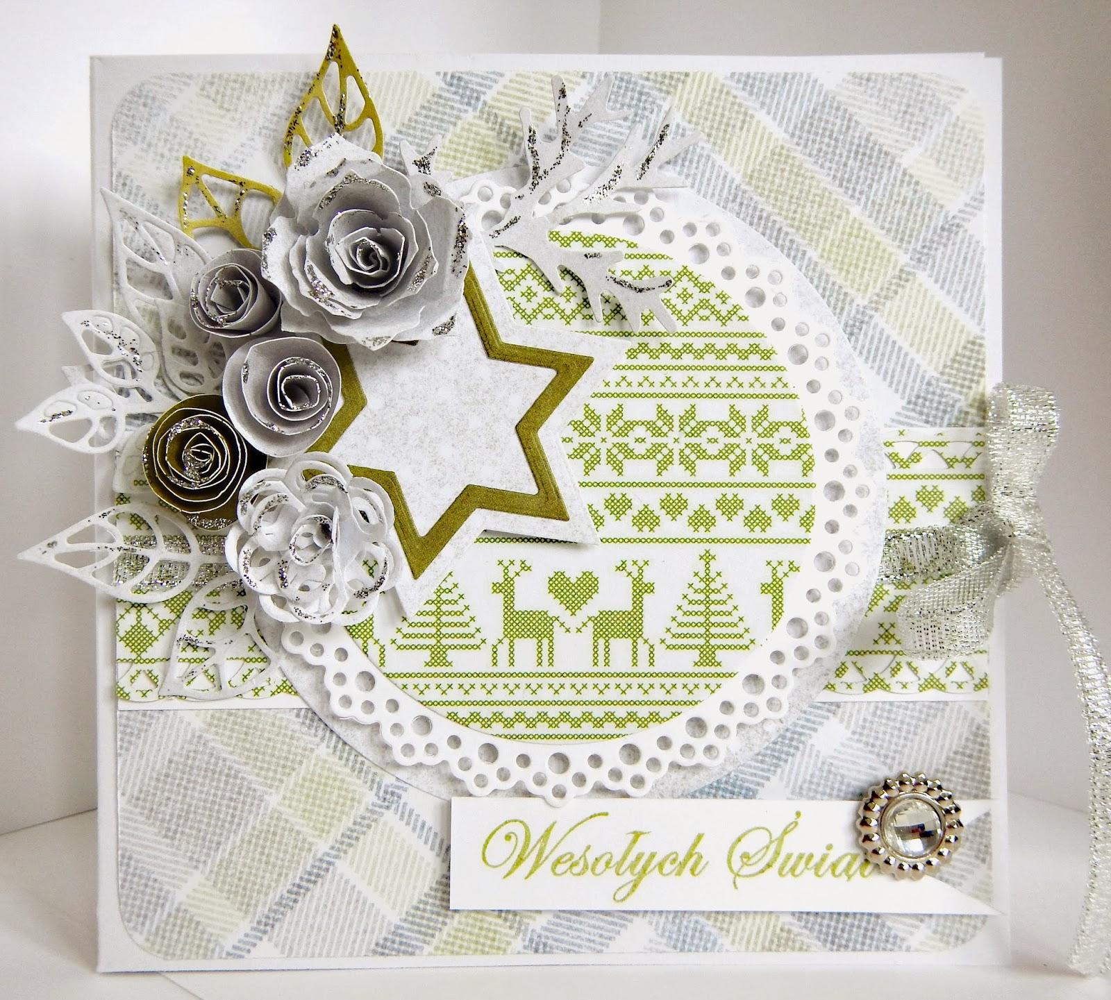 Bożonarodzeniowa kartka w szarościach