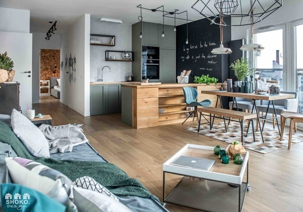 An Apartment With Nordic Style and Industrial Touches 7