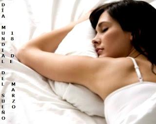 Imagen por el Día Mundial del sueño - Mujer durmiendo