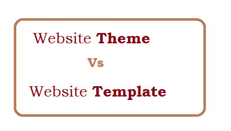 Difference between theme and template in website
