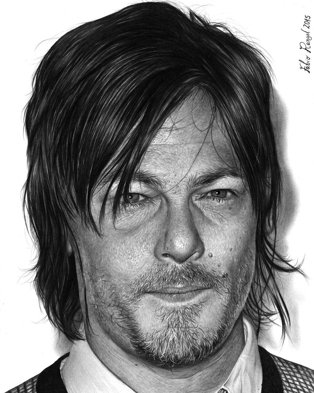 04-Daryl-Dixon-The-Walking-Dead-Fabio-Rangel-Drawings-of-Protagonists-from-TV-and-Movies-www-designstack-co