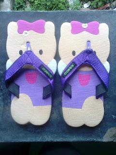 Sandal Lucu Motif Hello Kitty