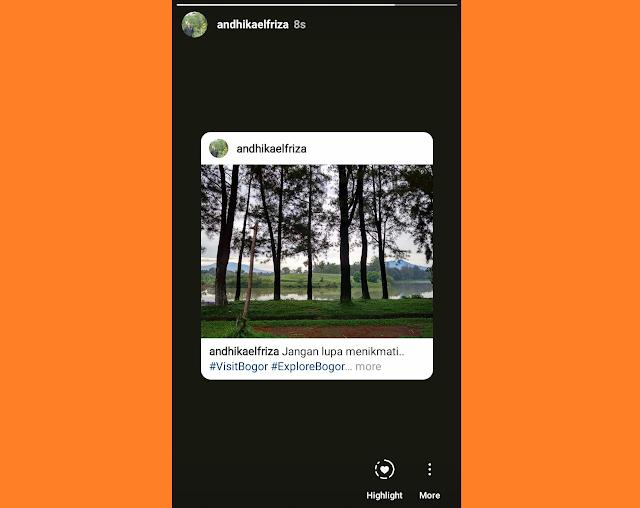 Cara Share postingan instagram di Story