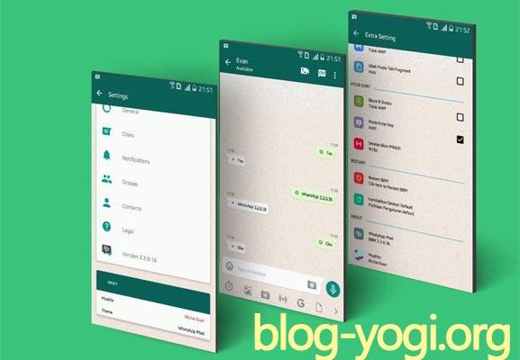 Download BBM Mod Tema Whatsapp V3.3.0.16 Apk Terbaru