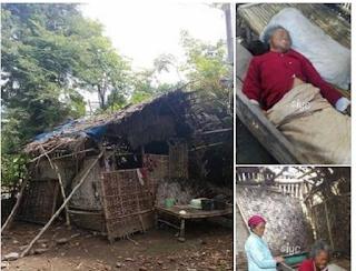 Lebih Membutuhkan dari saeni, Mbah Siam buta dan lumpuh Tinggal di Gubuk Reot tak Layak Huni - Commando