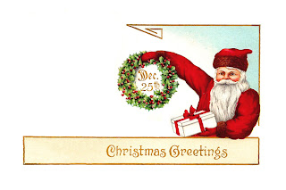 Santa Christmas Digital Tag Design
