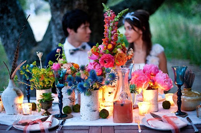 bohemian floral table
