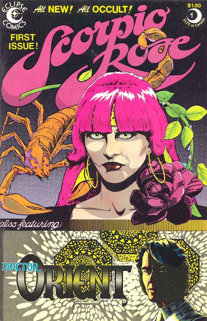 Scorpio Rose v1 #1, 1982 eclipse comic book cover