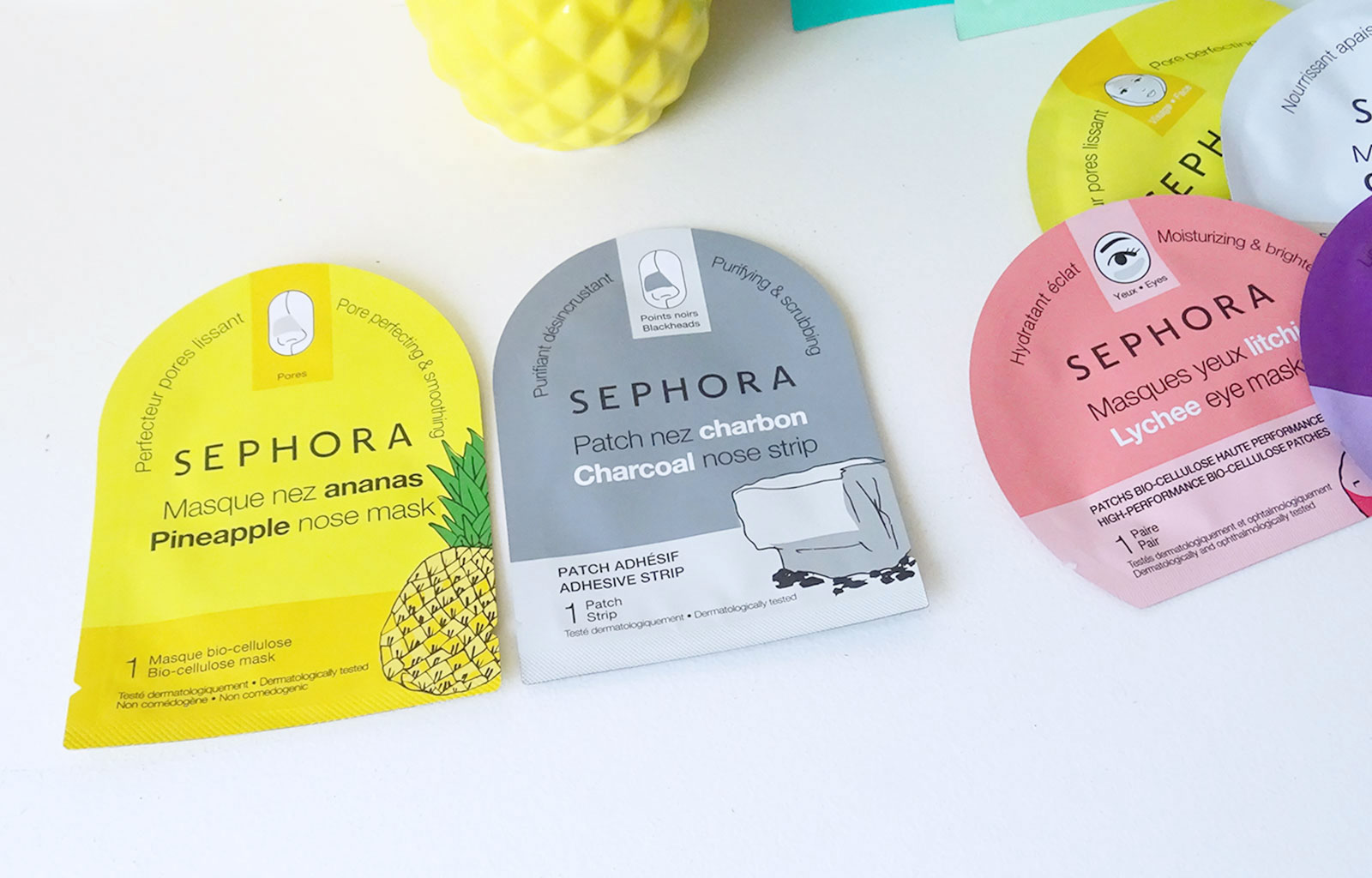 masques nez en tissu Sephora Collection