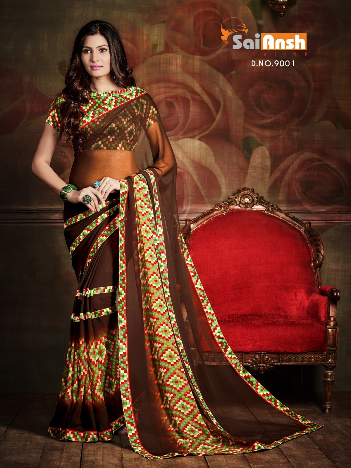 Senorita – Latest New Georgette Printed Saree Wholesale