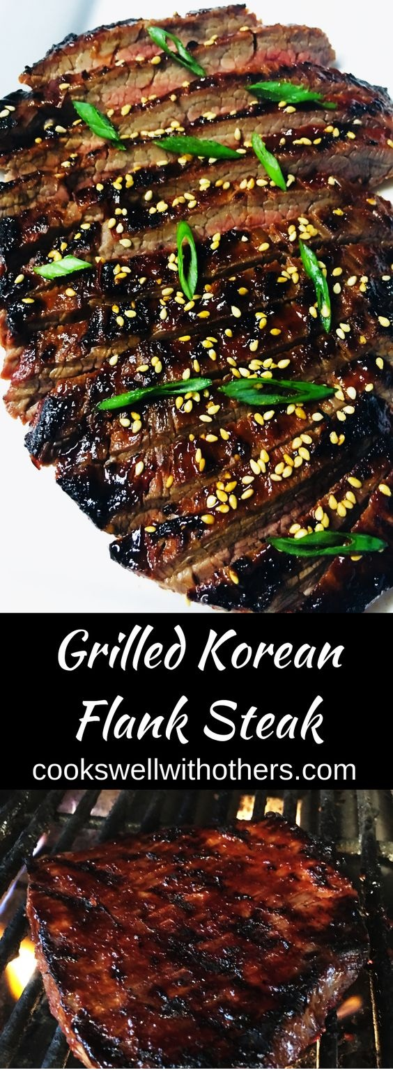 Grilled Korean Flank Steak