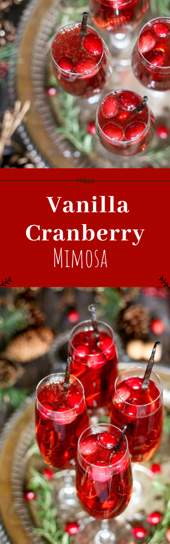 Vanilla Cranberry Mimosa #Cocktail #3-ingredient