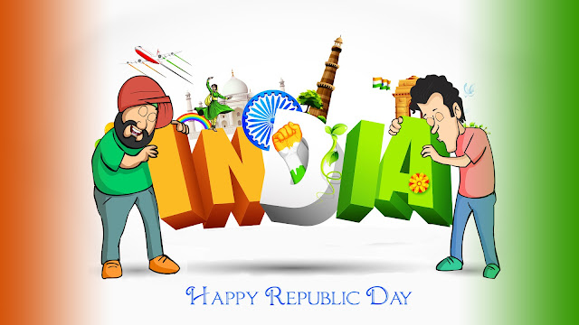 100+ Best Happy Republic Day 2017 Whatsapp, Facebook & Twitter Status - Latest 26 January Status In Hindi