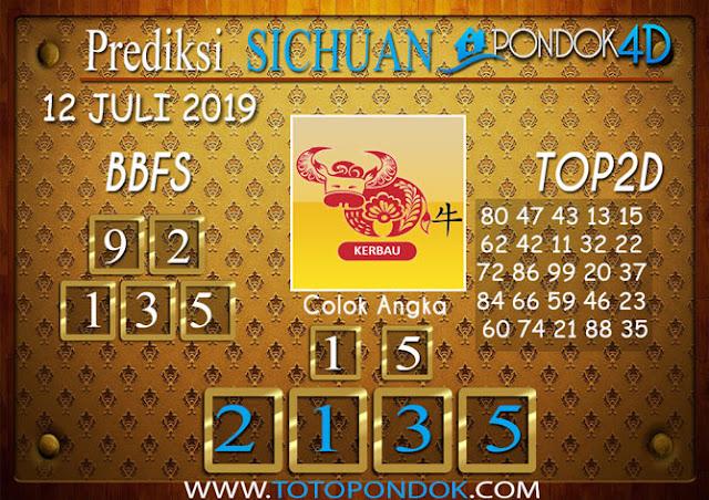 Prediksi Togel SICHUAN PONDOK4D 12 JULI 2019