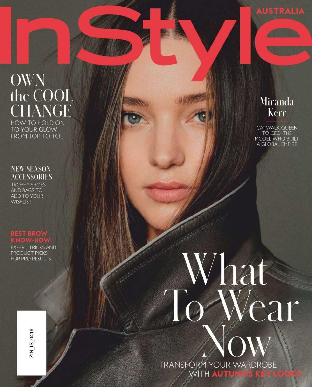 d2205fd520 Miranda Kerr Instyle Australia Magazine April 2019 | Gettyceleb ...
