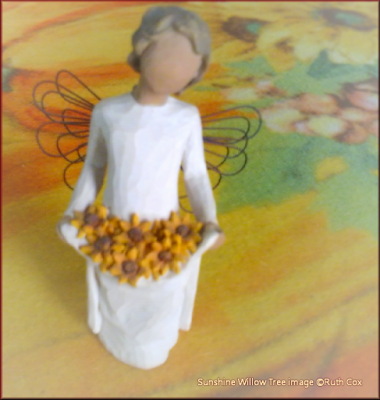 My Willow Tree Sunshine Sculpture with Sunflowers