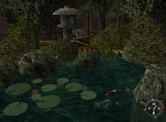 The scenic garden pond
