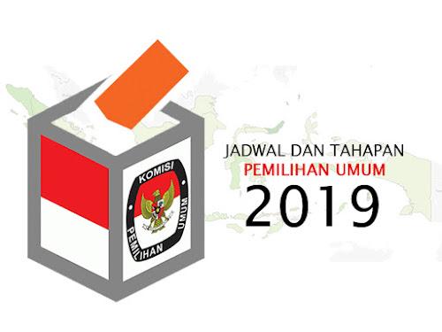 Jadwal dan Tahapan Pemilu 2019
