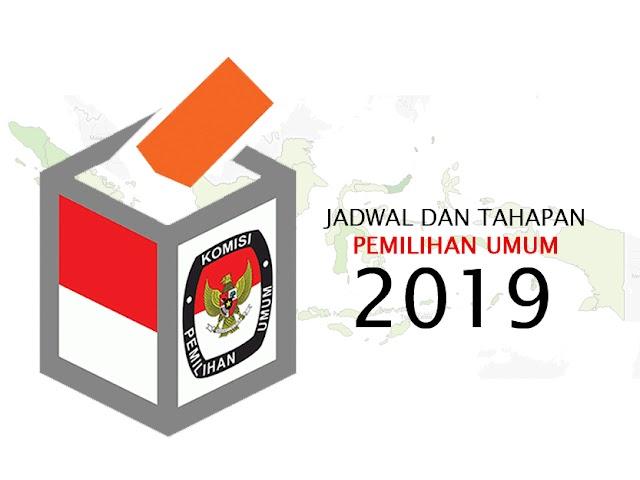 Jadwal dan Tahapan Penyelenggaraan Pemilu 2019