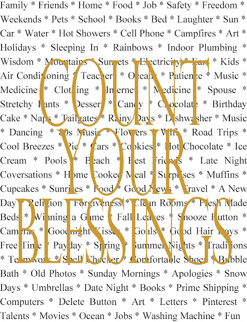 Count Your Blessings Thanksgiving Print