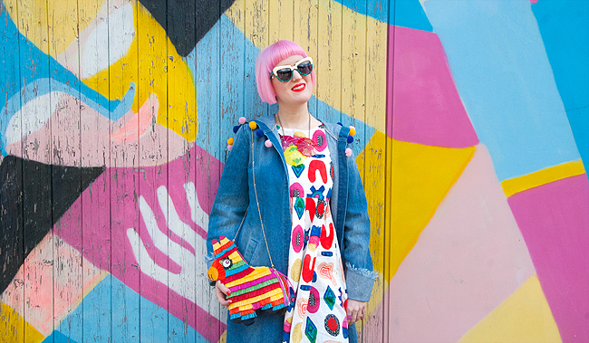 Schmiley Mo, blogger, colourful look