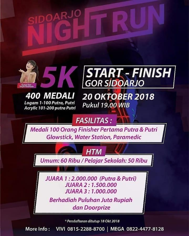 Sidoarjo Night Run • 2018