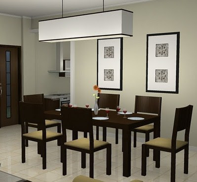 minimalist design of the dining room