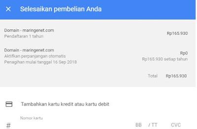 pembayaran google domain