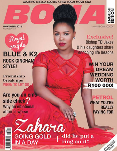 K2 And Blue Featured In Bona Magazine November Issue 2015