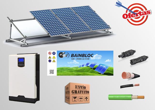 HIBRIDO INVERSOR CARGADOR + MPPT VOLTRONIC POWER AXPERT V PLUS 24V 3000VA 2400W 60A 60A CONTROLADOR DE CARGA SOLAR MPPT BLUESOLAR CHARGE 150/35 TR BAINBLOC SOLAR 12V 250Ah en C100 OFERTA KIT SOLAR CABLE PANEL SOLAR FOTOVOLTAICO POLICRISTALINO 24V 250Wp 260Wp ENVIO GRATUITO LIBRE DE MANTENIMIENTO ULTRACELL UCG200-12 GEL