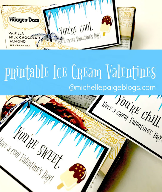 Printable Ice Cream Valentines