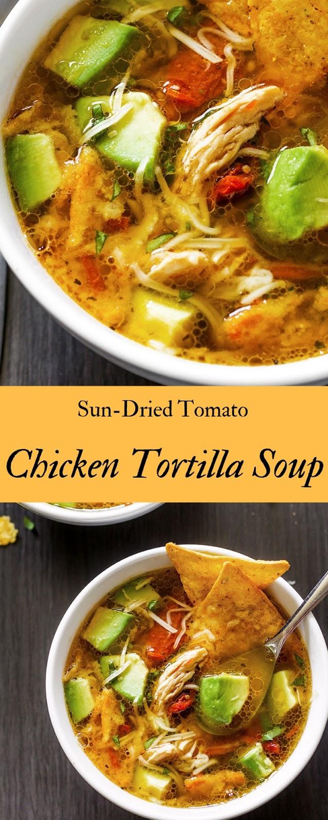 Sun-Dried Tomato Chicken Tortilla Soup