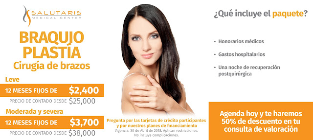 Precio Paquete Cirugia Plastica Estetica Brazos Flacidez Braquioplastia Guadalajara Mexico