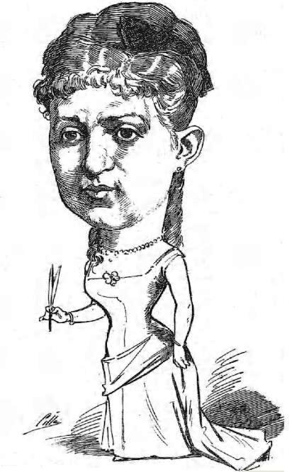 Caricatura publicada en Madrid Cromo en 1885