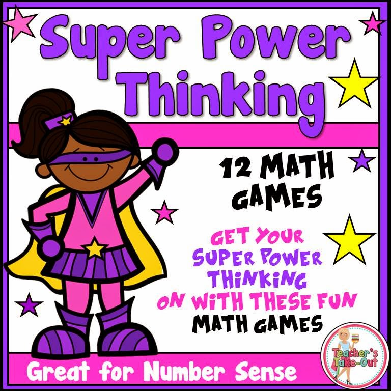 Super Power Thinking Math Games in Super Kids Theme