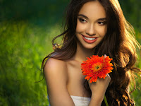 inspiring happy woman