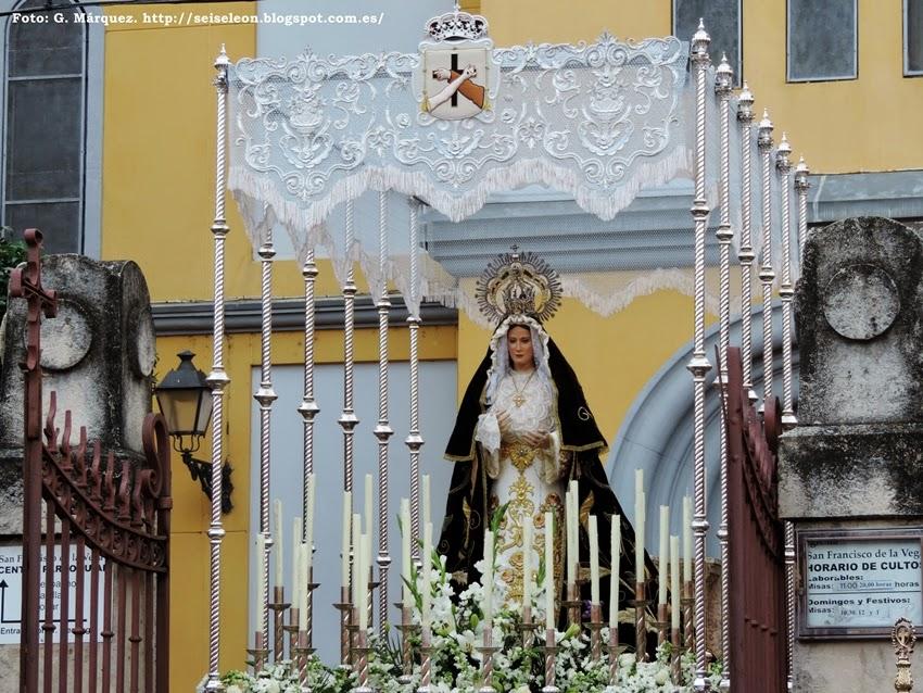 Palio de la Madre de la Paz. León. Cofradía Santo Cristo del Perdón. Foto G. Márquez.