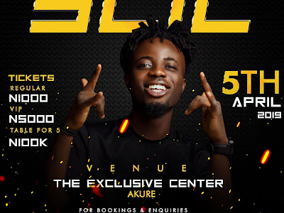#SLIC19: SuperWozzy set to Headline his first Concert tagged SLIC in Akure