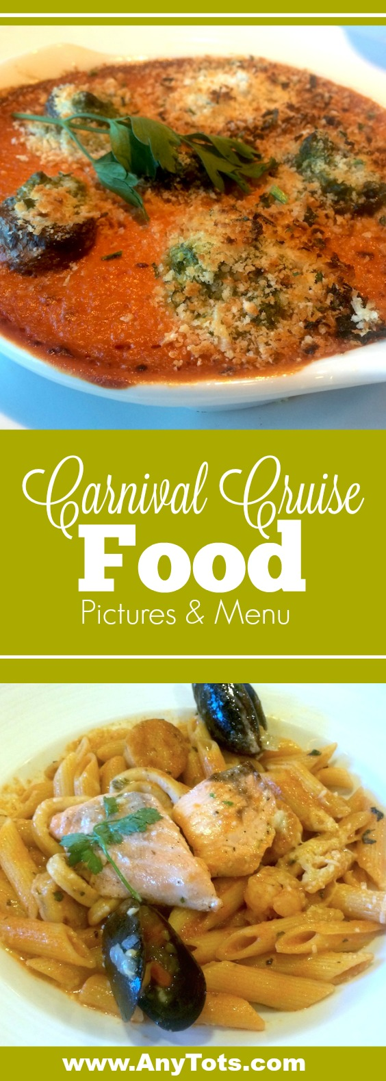 Carnival Cruise Menu: Food On Carnival Imagination 5 Day