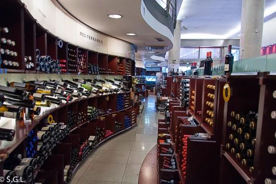 Tienda de vinos La Vinia en Madrid
