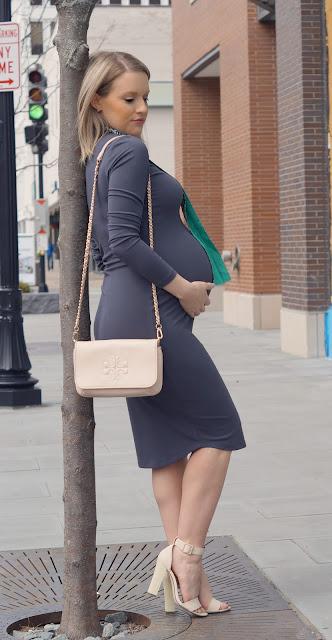 bae the label maternity dress chicago blogger