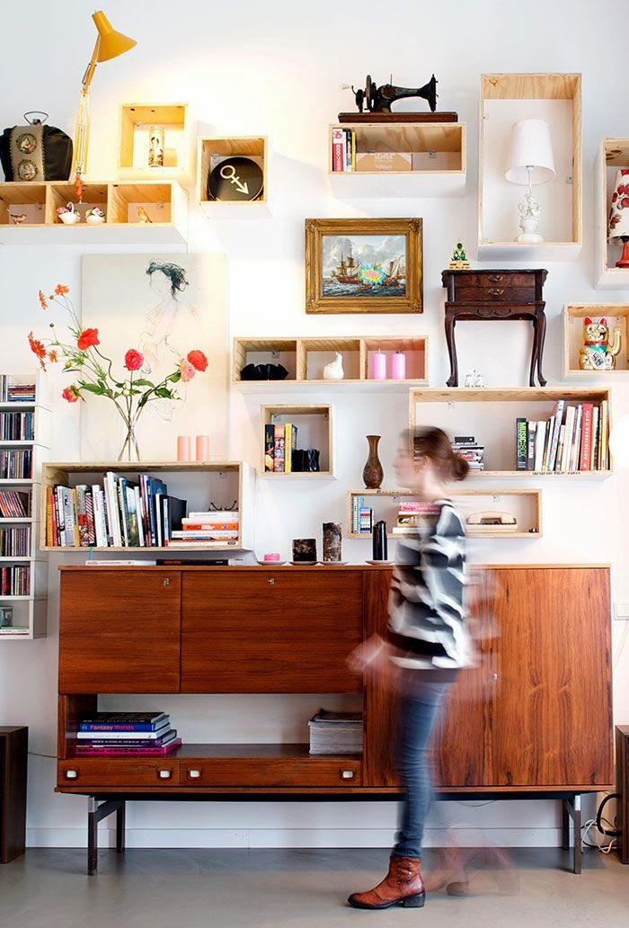 decorative boxes, items books