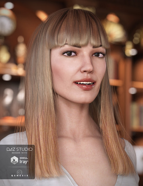 Avelyn Hair for Genesis 3 Female
