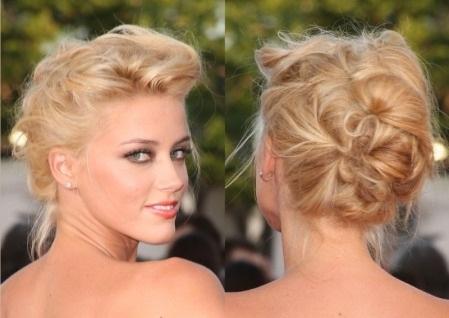 los recogidos con el pelo liso pueden salir ms bajos pero se pueden con bucles o con rizos hechos con tenacillas o con rulos
