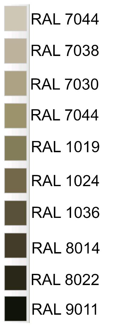 10 codici RAL per il colore tortora - BLOG ARREDAMENTO